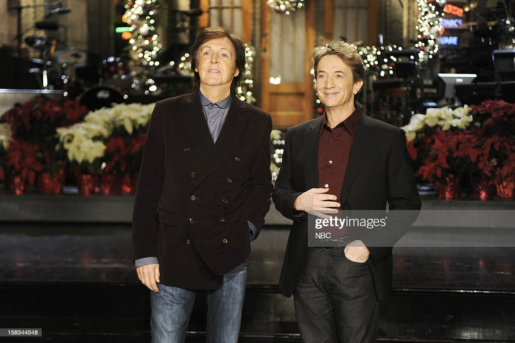 LIVE -- 'Martin Short' Episode 1630 -- Pictured: (l-r) Paul McCartney, Martin Short --