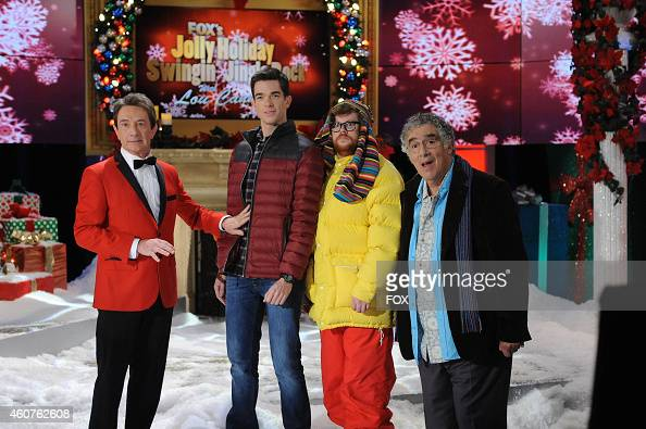 Martin Short John Mulaney Zack Pearlman and Elliott Gould in the 'It's A Wonderful Home Alone' episode of MULANEY airing Sunday Dec 21 2014 on FOX