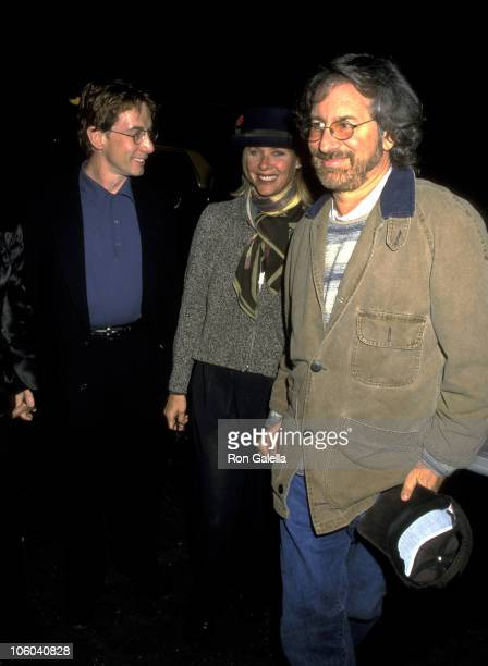 Martin Short Kate Capshaw and Steven Spielberg during Performance of 'Hamlet' at Belasco Theatre in New York City New York United States