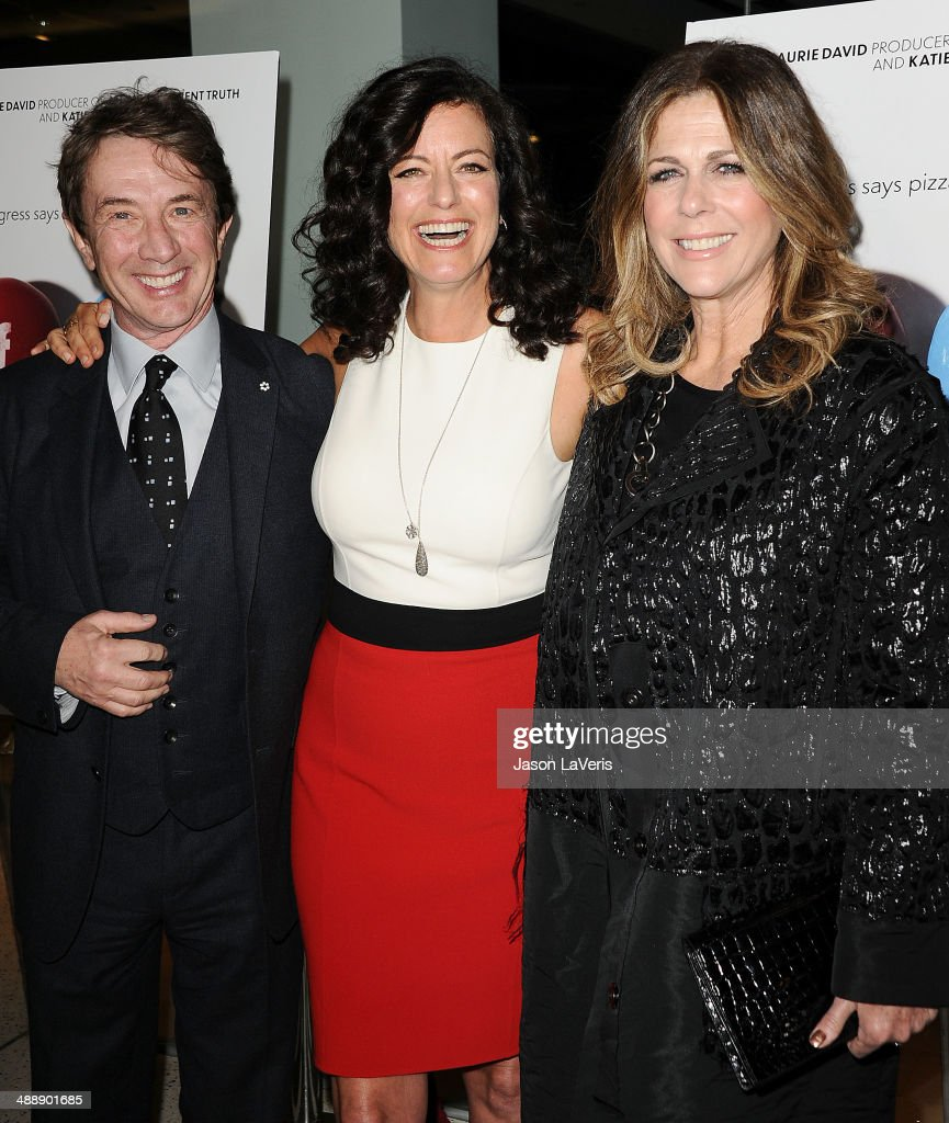 <a gi-track='captionPersonalityLinkClicked' href=/galleries/search?phrase=Martin+Short&family=editorial&specificpeople=211569 ng-click='$event.stopPropagation()'>Martin Short</a>, <a gi-track='captionPersonalityLinkClicked' href=/galleries/search?phrase=Laurie+David&family=editorial&specificpeople=556147 ng-click='$event.stopPropagation()'>Laurie David</a> and <a gi-track='captionPersonalityLinkClicked' href=/galleries/search?phrase=Rita+Wilson+-+Actress&family=editorial&specificpeople=202642 ng-click='$event.stopPropagation()'>Rita Wilson</a> attend the premiere of 'Fed Up' at Pacfic Design Center on May 8, 2014 in West Hollywood, California.