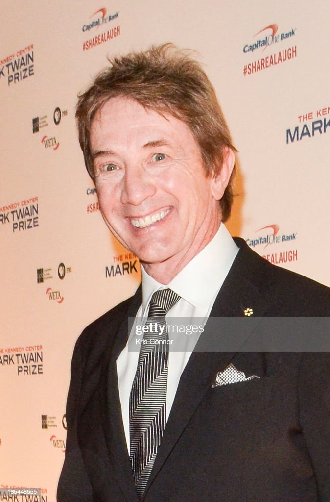 <a gi-track='captionPersonalityLinkClicked' href=/galleries/search?phrase=Martin+Short&family=editorial&specificpeople=211569 ng-click='$event.stopPropagation()'>Martin Short</a> poses on the red carpet during The 16th Annual Mark Twain Prize For American Humor at John F. Kennedy Center for the Performing Arts on October 20, 2013 in Washington, DC.