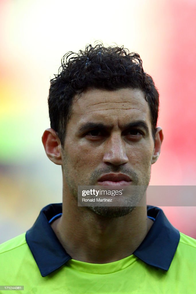 <a gi-track='captionPersonalityLinkClicked' href=/galleries/search?phrase=Martin+Silva&family=editorial&specificpeople=4354248 ng-click='$event.stopPropagation()'>Martin Silva</a> of Uruguay looks on during the FIFA Confederations Cup Brazil 2013 Group B match between Uruguay and Tahiti at Arena Pernambuco on June 22, 2013 in Recife, Brazil.