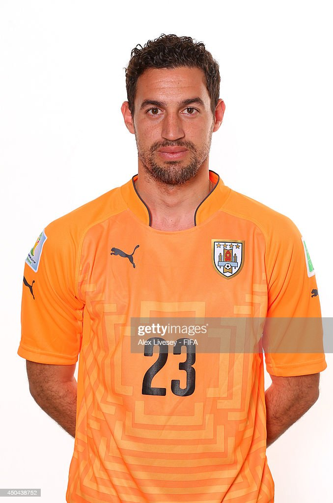 <a gi-track='captionPersonalityLinkClicked' href=/galleries/search?phrase=Martin+Silva&family=editorial&specificpeople=4354248 ng-click='$event.stopPropagation()'>Martin Silva</a> of Uruguay poses during the official FIFA World Cup 2014 portrait session on June 10, 2014 in Belo Horizonte, Brazil.