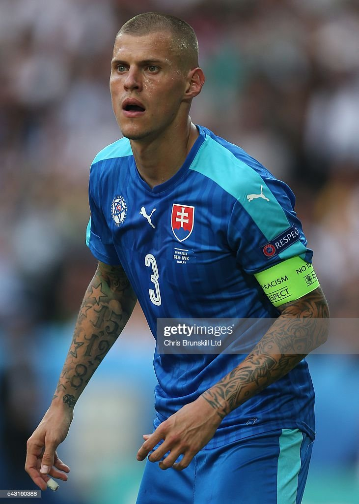 Martin Skrtel of Slovakia looks on during the UEFA Euro 2016 Round of 16 match between Germany and Slovakia at Stade Pierre-Mauroy on June 26, 2016 in Lille, France.