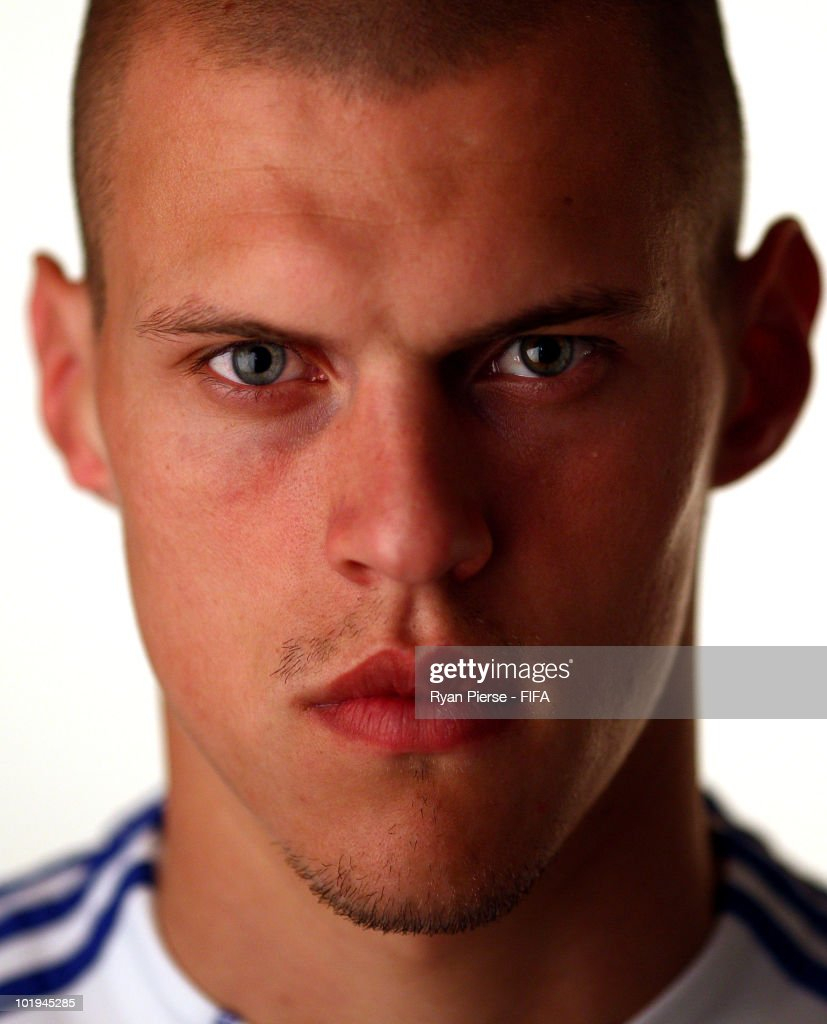 <a gi-track='captionPersonalityLinkClicked' href=/galleries/search?phrase=Martin+Skrtel&family=editorial&specificpeople=5554576 ng-click='$event.stopPropagation()'>Martin Skrtel</a> of Slovakia poses during the official FIFA World Cup 2010 portrait session on June 10, 2010 in Pretoria, South Africa.