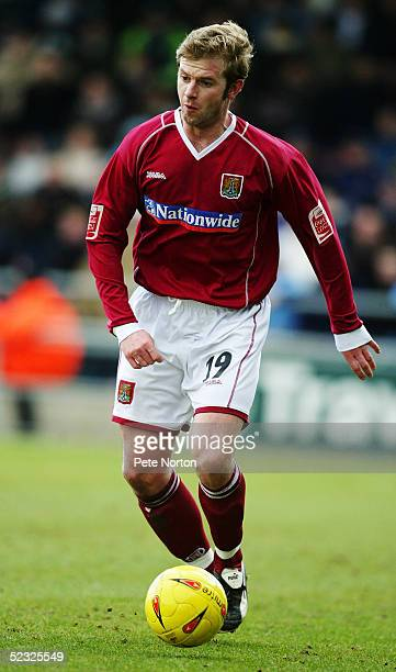 Martin Smith of Northampton Town in action during the Coca Cola League Two match between Northampton Town and Southend United held at Sixfields...
