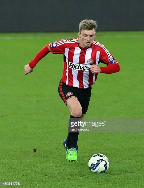 Martin Smith of Sunderland during the Premier League International Cup match between Sunderland U21 and Villarreal U21 at the Stadium of Light on...