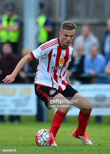 Martin Smith of Sunderland in action during a pre season friendly between Darlington and Sunderland at Heritage Park on July 9 2015 in Bishop...
