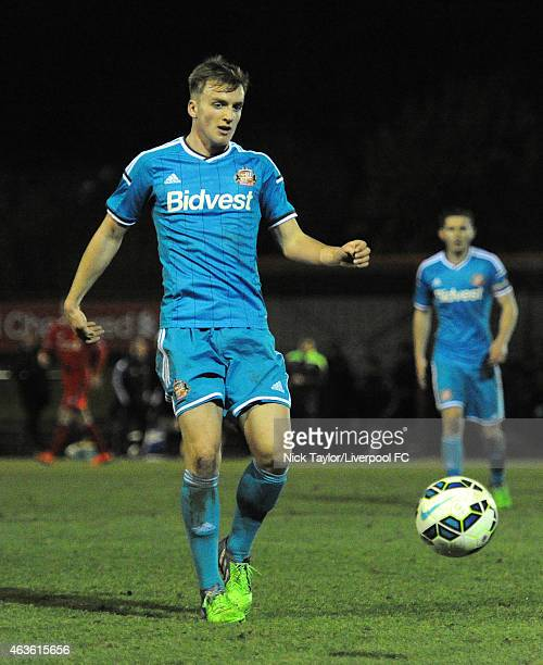 Martin Smith of Sunderland in action during the Barclays U21 Premier League match between Liverpool and Sunderland at the Kirkby Academy on February...