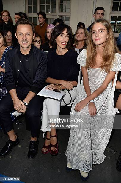 Martin Solveig a guest and Dolores Doll attend the John Galliano show as part of the Paris Fashion Week Womenswear Spring/Summer 2017 on October 2...