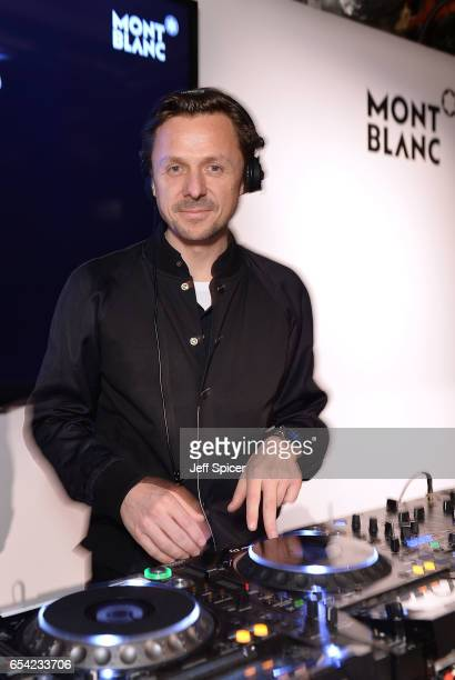 Martin Solveig DJs at the Montblanc Summit launch event at The Ledenhall Building on March 16 2017 in London England