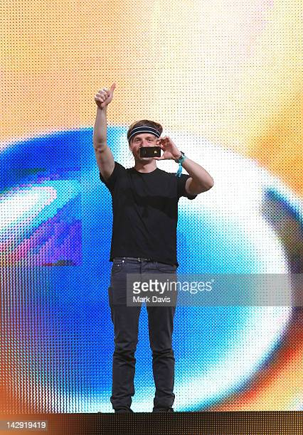 Martin Solveig performs onstage at the 2012 Coachella Valley Music Arts Festival held at The Empire Polo Field on April 14 2012 in Indio California