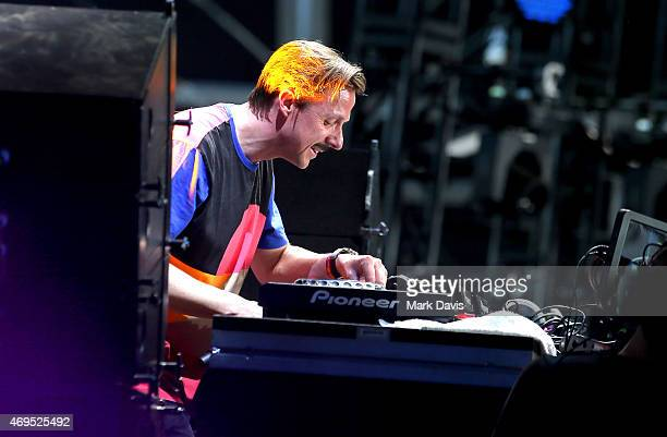 Martin Solveig performs onstage during day 3 of the 2015 Coachella Valley Music Arts Festival at the Empire Polo Club on April 12 2015 in Indio...