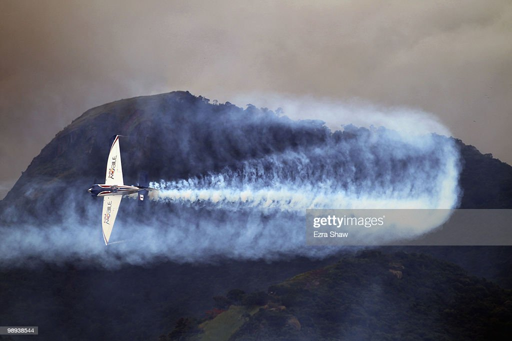 Martin Sonka of Czech Republic in action during the Red Bull Air Race Day on May 9, 2010 in Rio de Janeiro, Brazil.