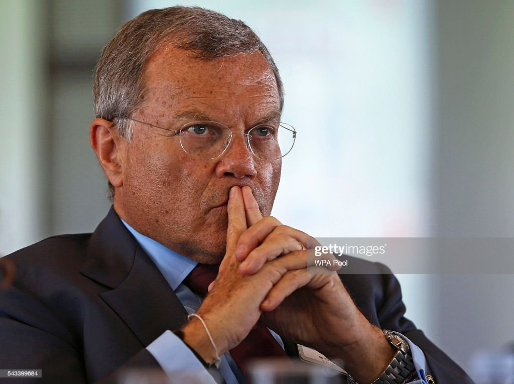 Martin Sorrell, Chairman and Chief Executive Officer of WPP attends The Times CEO summit on June 28, 2016 in London, England.