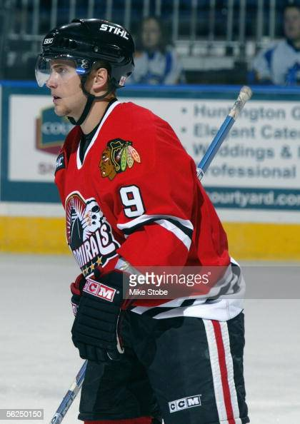 Martin St Pierre of the Norfolk Admirals skates during the game with the Bridgeport Sound Tigers November 2 2005 in Bridgeport Connecticut The...