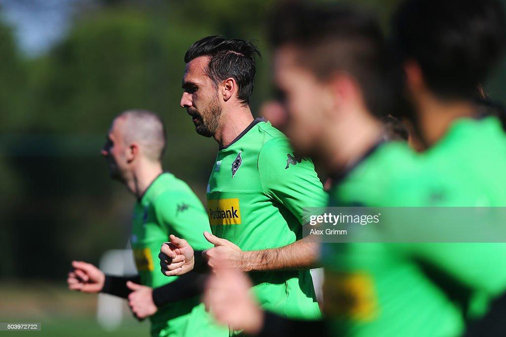 Martin Stranzl and team mates run during a Borussia Moenchengladbach training session on day 3 of the Bundesliga Belek training camps at Maxx Royal...