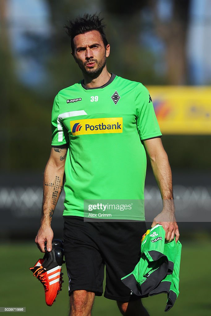 Martin Stranzl leaves the pitch after a Borussia Moenchengladbach training session on day 3 of the Bundesliga Belek training camps at Maxx Royal...