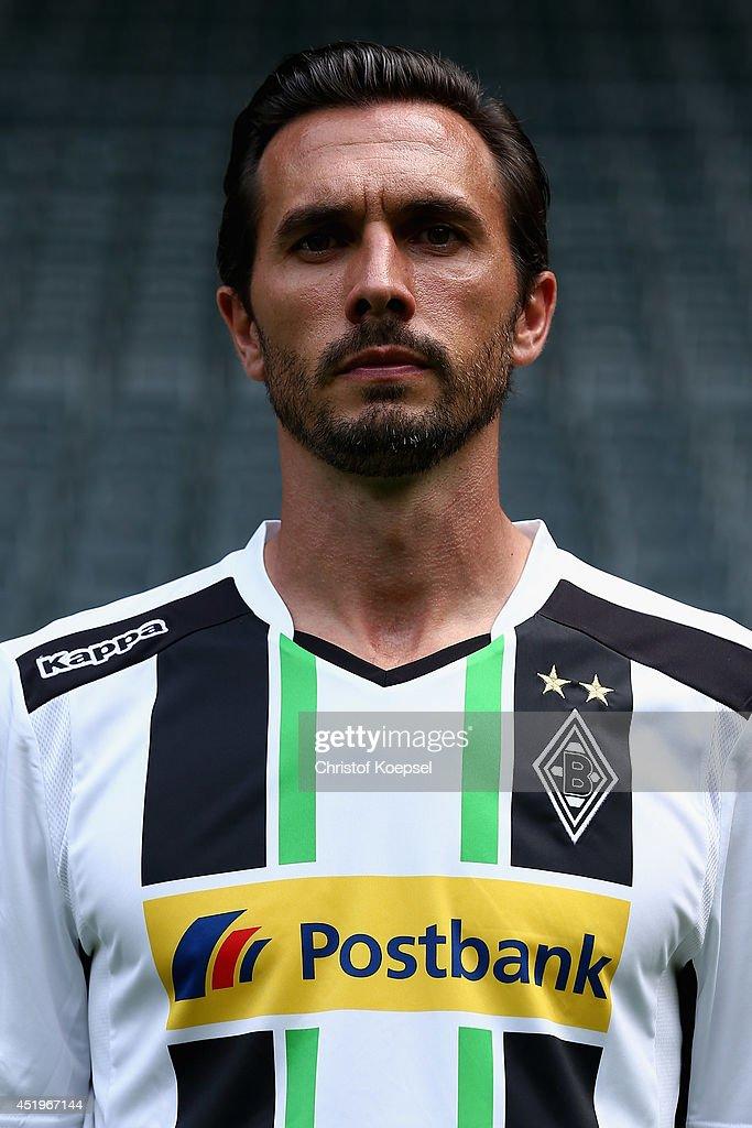 Martin Stranzl poses at Borussia Park Stadium on July 10 2014 in Moenchengladbach Germany