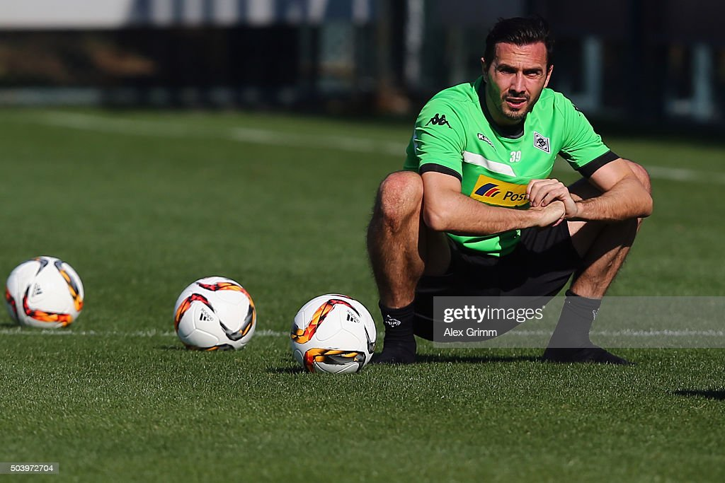 Martin Stranzl reacts after a Borussia Moenchengladbach training session on day 3 of the Bundesliga Belek training camps at Maxx Royal Belek Golf...