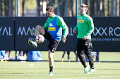 Martin Stranzl Thorben Marx attends a training session at day two of Borussia Moenchengladbach training camp on January 9 2015 in Belek Turkey