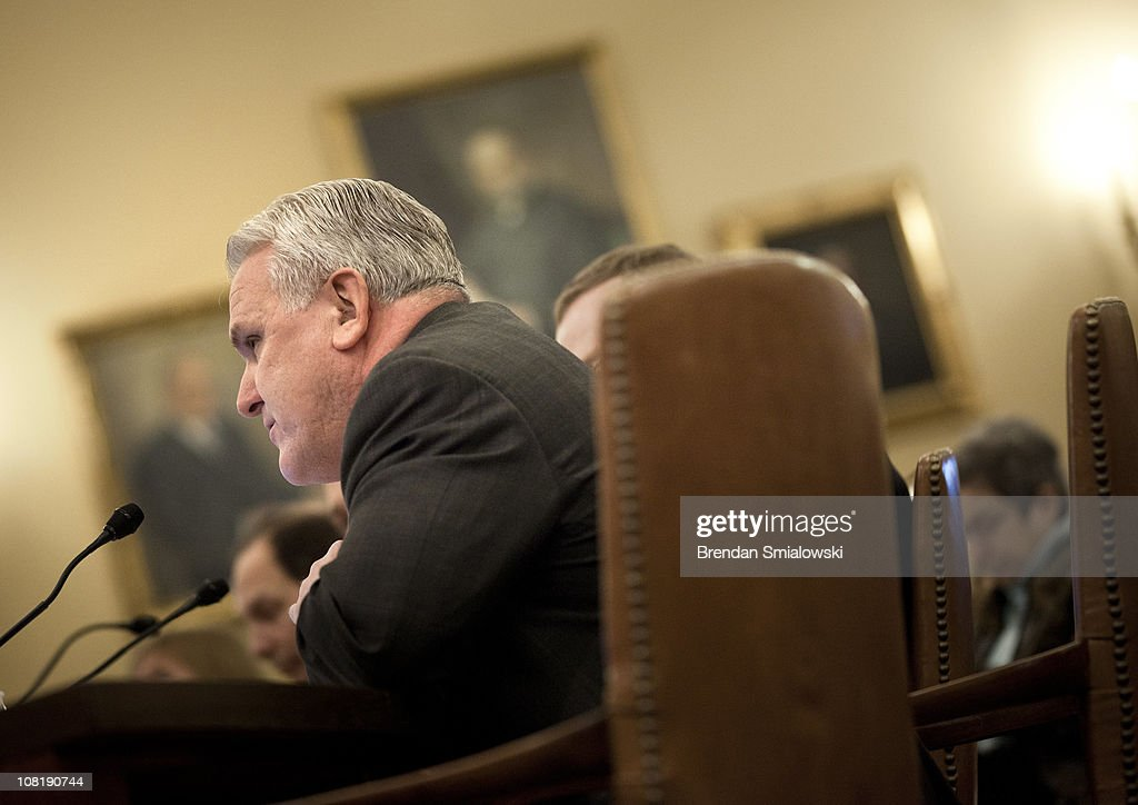 Martin Sullivan, contributing editor at Tax Analysts, pauses while speaking during a hearing of the House Ways and Means Committee on Capitol Hill January 20, 2011 in Washington, DC. The Committee called business and tax leaders to testify about the effect of the Federal income tax on tax payers and the economy.