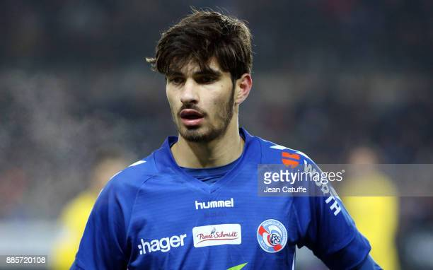 Martin Terrier of Strasbourg during the French Ligue 1 match between RC Strasbourg Alsace and Paris Saint Germain at Stade de la Meinau on December 2...