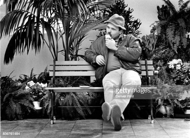 Martin Ters sitting on the Park Bench inside the Mall in Prudental Plaza in the mist of the Botanic Gardens Spring Gardens He came to enjoy the...