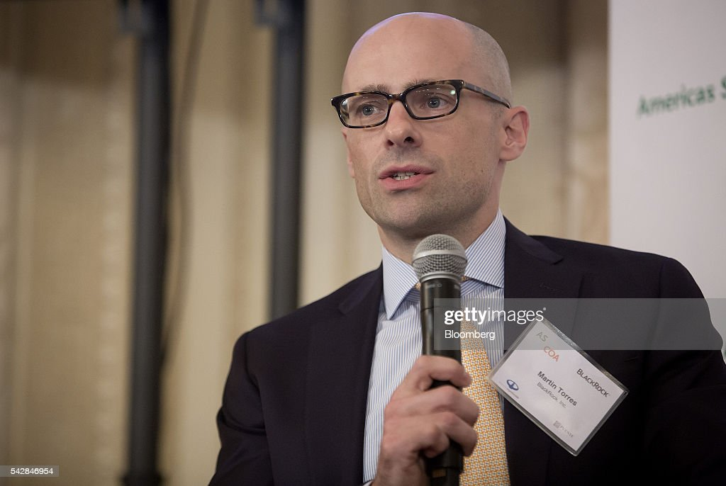 Martin Torres, managing director of BlackRock Renewable Power Group, speaks during a panel discussion at the Argentina Investment Conference in New York, U.S., on Friday, June 24, 2016. The Argentina Investment Conference 2016 brought together senior policy makers, investors, and international and national business leaders for an insightful discussion on foreign investment in Argentina. Photographer: Eric Thayer/Bloomberg via Getty Images