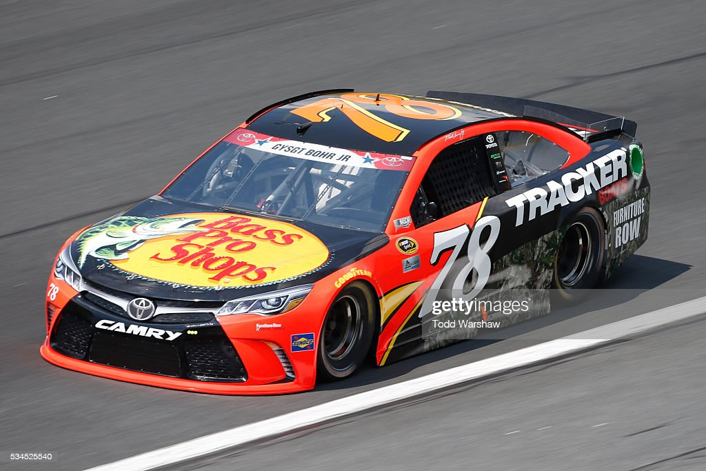 <a gi-track='captionPersonalityLinkClicked' href=/galleries/search?phrase=Martin+Truex+Jr.&family=editorial&specificpeople=184514 ng-click='$event.stopPropagation()'>Martin Truex Jr.</a>, driver of the #78 Bass Pro Shops/Tracker Toyota, practices for the NASCAR Sprint Cup Series Coca-Cola 600 at Charlotte Motor Speedway on May 27, 2016 in Charlotte, North Carolina.