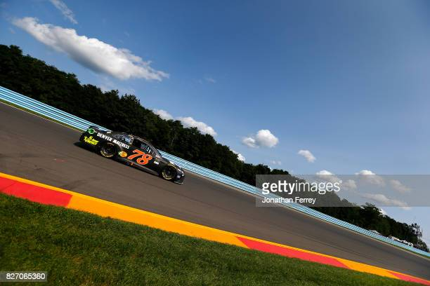 Martin Truex Jr driver of the Furniture Row/Denver Mattress Toyota during the Monster Energy NASCAR Cup Series I Love NY 355 at The Glen at Watkins...