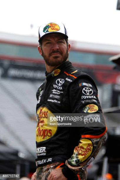 Martin Truex Jr during practice for the Bass Pro Shop NRA 500 at Bristol Motor Speedway on August 18 2017 Photo by Jeff Robinson/Icon Sportswire via...