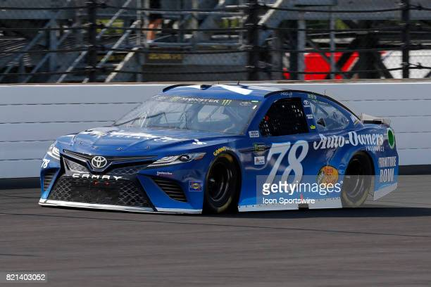 Martin Truex Jr Furniture Row Racing Toyota Camry during the NASCAR Monster Energy Cup Series Brantley Gilbert Big Machine Brickyard 400 July 23 at...