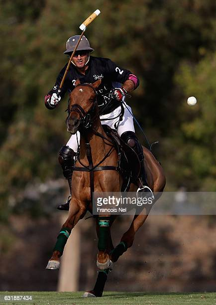 Martin Valent of Desert Palm Polo in action during the HH President of UAE Polo Cup match between Abu Dhabi Polo and Desert Palm Polo on January 17...