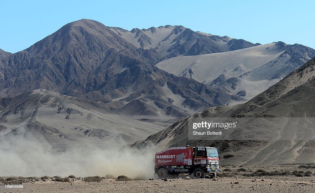 Martin Van Den Brink of team Ginaf competes in stage 12 from Fiambala to Copiapo during the 2013 Dakar Rally on January 17, 2013 in Fiambala, Argentina.