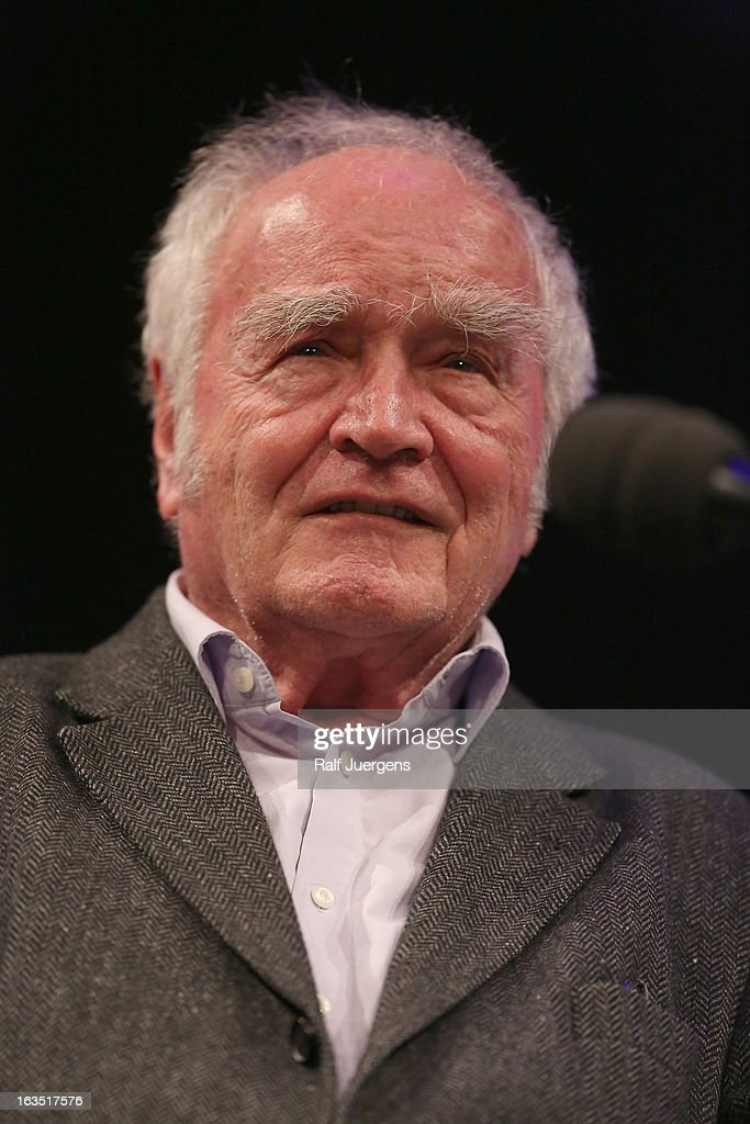 Martin Walser talks with Denis Scheck about his book 'Messmers Momente' during the lit. Cologne at `WDR`on March 11, 2013 in Cologne, Germany.