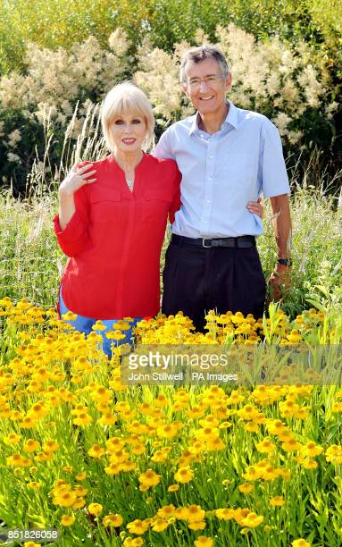 Martin Warren the Chief Executive Officer of Marks and Spencer with Actress Joanna Lumley as Marks and Spencer are sponsoring a Big Butterfly Count...