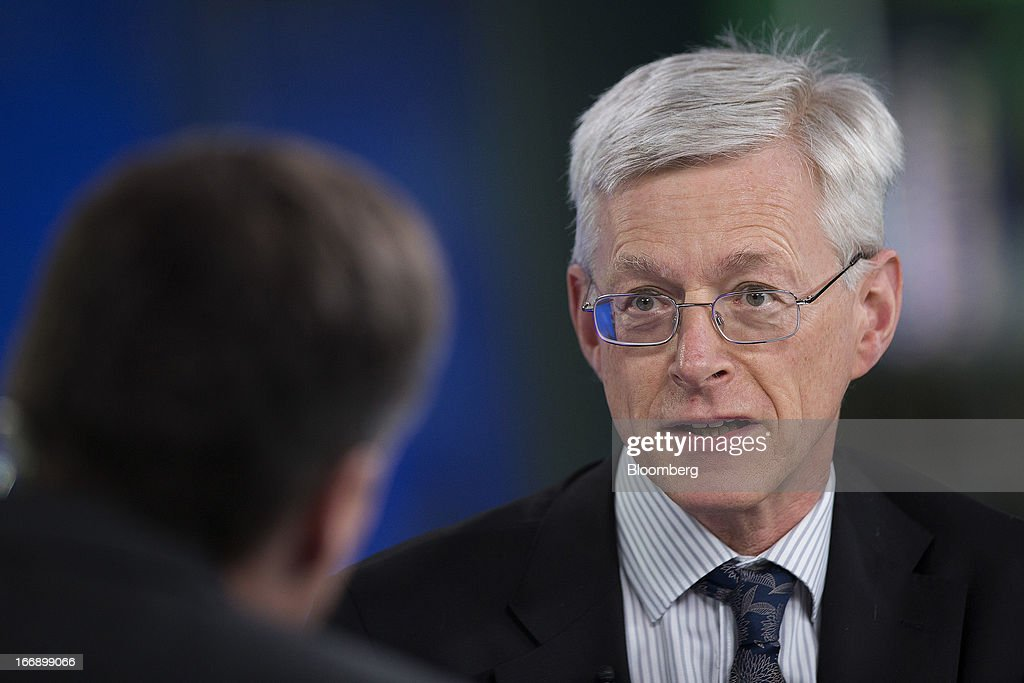 Martin Weale, a member of the Monetary Policy Committee at the Bank of England, speaks during a Bloomberg Television interview in London, U.K., on Thursday, April 18, 2013. U.K. Chancellor of the Exchequer George Osborne's March 20 budget statement clarified the BOE's right to use unconventional tools to stoke growth and said it should examine the case for forward guidance on the future path of policy. Photographer: Simon Dawson/Bloomberg via Getty Images