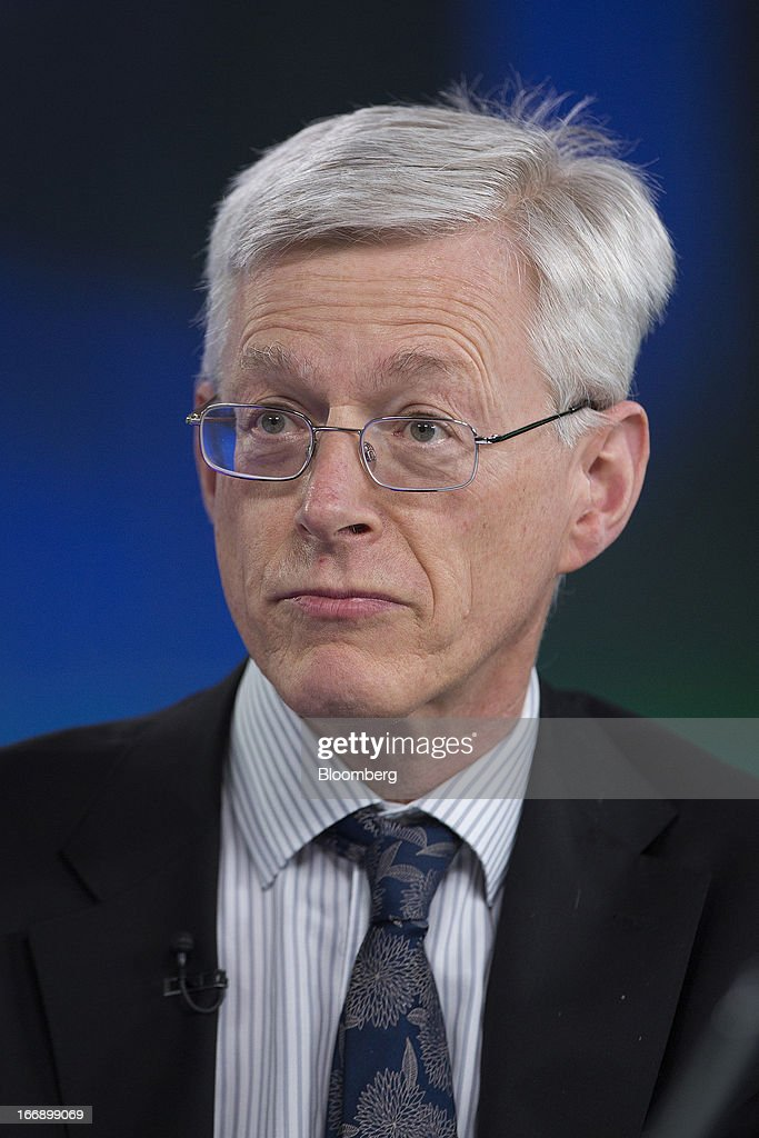 Martin Weale, a member of the Monetary Policy Committee at the Bank of England, pauses during a Bloomberg Television interview in London, U.K., on Thursday, April 18, 2013. U.K. Chancellor of the Exchequer George Osborne's March 20 budget statement clarified the BOE's right to use unconventional tools to stoke growth and said it should examine the case for forward guidance on the future path of policy. Photographer: Simon Dawson/Bloomberg via Getty Images
