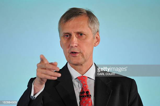 Martin Wheatley Managing Director of the FSA and Chief Executivedesignate of the Financial Conduct Authority delivers a speech at Mansion House in...