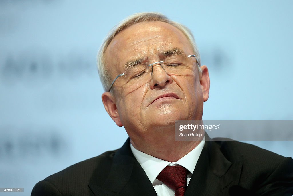 <a gi-track='captionPersonalityLinkClicked' href=/galleries/search?phrase=Martin+Winterkorn&family=editorial&specificpeople=840091 ng-click='$event.stopPropagation()'>Martin Winterkorn</a>, Chairman of German carmaker Volkswagen AG, speaks at the company's annual press conference to announce financial results for 2013 on March 13, 2014 in Berlin, Germany. Volkswagen Group delivered over nine million vehicles worldwide in 2013.