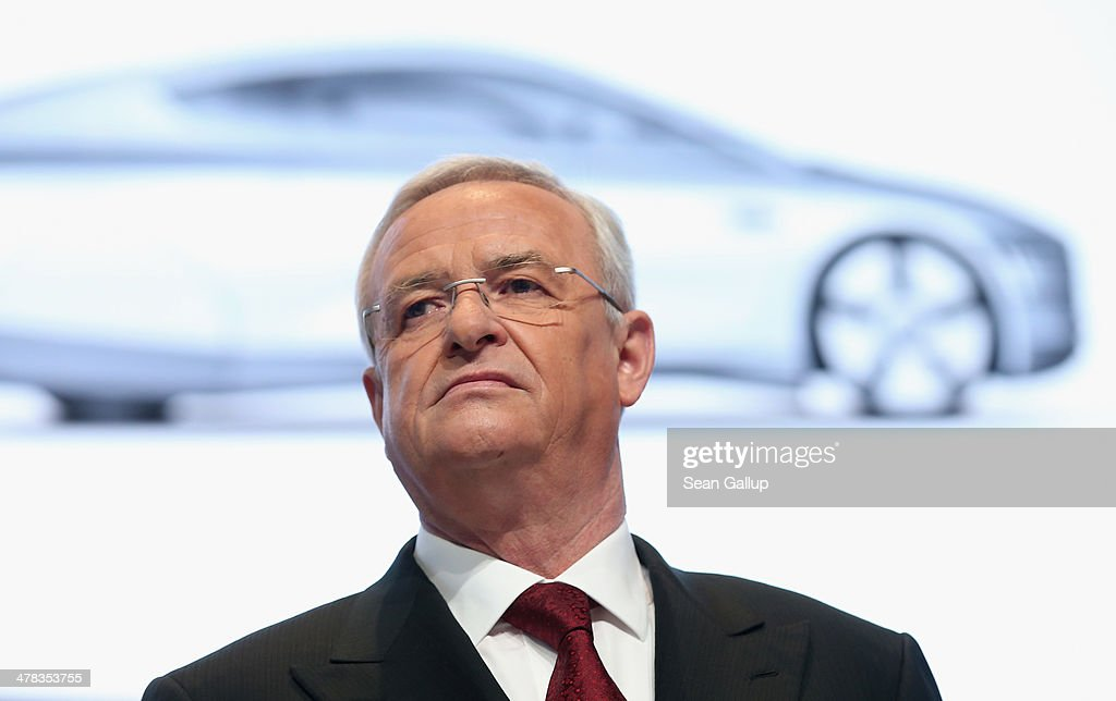<a gi-track='captionPersonalityLinkClicked' href=/galleries/search?phrase=Martin+Winterkorn&family=editorial&specificpeople=840091 ng-click='$event.stopPropagation()'>Martin Winterkorn</a>, Chariman of the German carmaker Volkswagen AG, arrives for the company's annual press conference to announce financial results for 2013 on March 13, 2014 in Berlin, Germany. Volkswagen Group delivered over nine million vehicles worldwide in 2013.