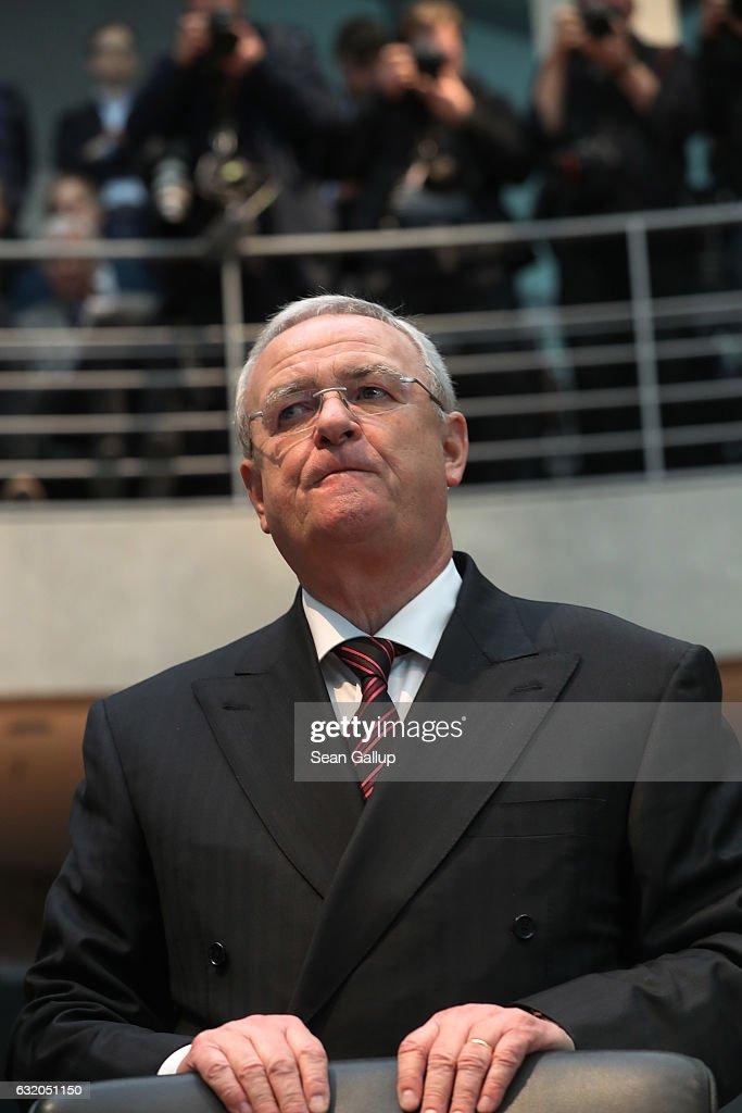 Former VW CEO Winterkorn Testifies In Bundestag Hearings Over Emissions Scandal
