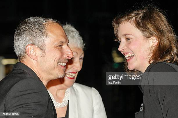 Martin Wuttke Richenda Carey and Vicky Krieps attend the 'Colonia Dignidad Es gibt kein zurueck' Berlin Premiere on February 05 2016 in Berlin Germany