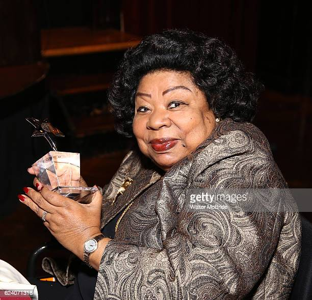 Martina Arroyo attends the 2016 Helen Hayes Award Dinner honoring Barbara Cook at The Players Club on November 17 2016 in New York City