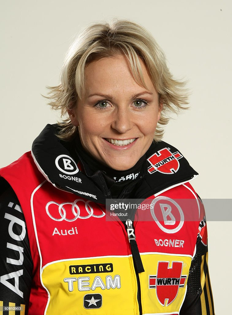 <a gi-track='captionPersonalityLinkClicked' href=/galleries/search?phrase=Martina+Beck&family=editorial&specificpeople=5543827 ng-click='$event.stopPropagation()'>Martina Beck</a> poses during a photocall at the German athlete Winter kit preview at the adidas Brand Center on October 28, 2009 in Herzogenaurach, Germany.