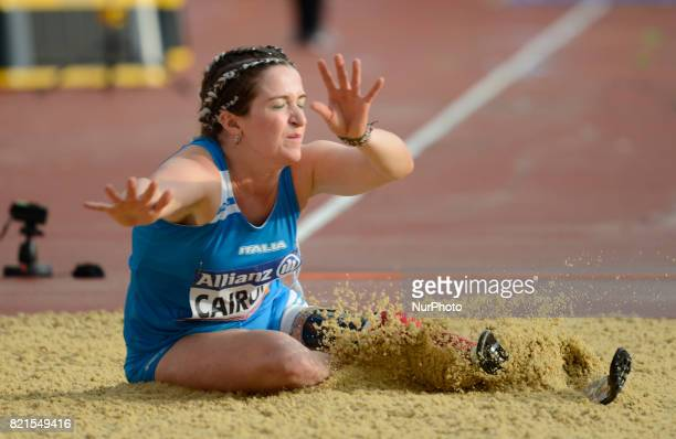 Martina Caironi of Italy compete Women's Long Jump T42 Final during World Para Athletics Championships at London Stadium in London on July 23 2017