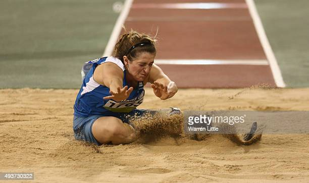 Martina Caironi of Italy in action on her way to Silver in the Women's Long Jump T42 Final during the Evening Session on Day One of the IPC Athletics...