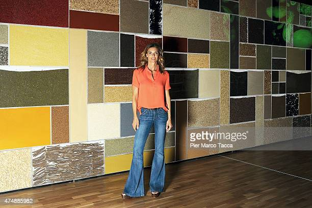 Martina Colombari Ambassador for Expo 2015 poses for a photo at pavilion Zero during the Expo 2015 at Fiera Milano Rho on May 27 2015 in Milan Italy