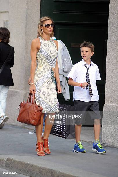 Martina Colombari and Achille Costacurta are seen on May 27 2014 in Milan Italy